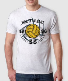 A REVOLVING NINJA BALL!-VOLLEYBALL CUSTOM NAME TEE