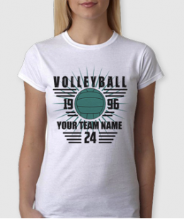 HERE COMES THE THUNDER!-VOLLEYBALL CUSTOM NAME TEE